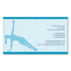 Convergent Lines Pilates Business Card (back side)