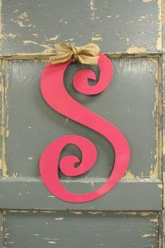 Personalized Metal Initial Door Hanger in your by BeachyMommas, $25.00