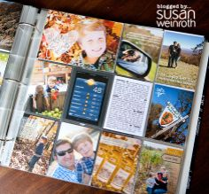 Love this PL page. I like her consistent way of journaling... Same text, small, typed,highlighted words, and that the page is  95% pictures... and good developing/pic quality.