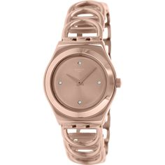 5e0e8e5ec00 Swatch Women s Irony Rose Gold Stainless Steel Swiss Quartz Watch