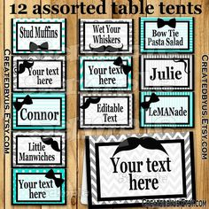 13 best birthday table tent food tent name cards images table rh pinterest com
