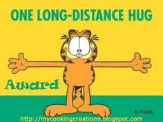 Garfield and long distance hug Hugs And Kisses Quotes, Hug Quotes, Snoopy Quotes, Funny Quotes, Good Morning Funny, Morning Humor, Good Morning Quotes, Garfield Quotes, Garfield Pictures
