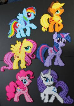 My Little Pony perler beads