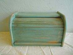Vintage Distressed Wooden Bread Box. Ideas for my bread box