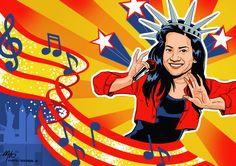 Ilustrasi penyanyi dangdut Ikke Nurjanah.