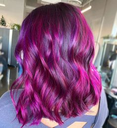 Magenta and Amethyst Purple Hair