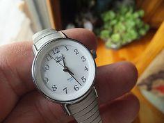 Vintage Womans Dress Watch - Timex Indiglo Quartz Water Resistant - Works