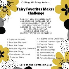 Check out Flymeawaycreations Facebook page and follow along to see the post of this fun challenge!