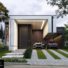 """3,179 mentions J'aime, 97 commentaires - Best Architecture Worldwide 🌎 (@architecture.worldwide) sur Instagram: """"What do you think about this modern house design? 😍 Project by arquitetônico Residencial • Follow…"""" Architecture Art Design, Modern Architecture House, Bungalow House Design, Modern House Design, Conception Villa, Dream House Exterior, Villa Design, House Entrance, Facade House"""