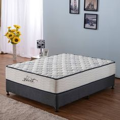 Bunk Bed Innerspring Mattress 6-inch Full Size Quilted Tight Top Jacquard Cover