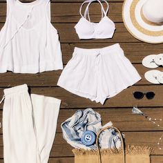 All white, all day with Lucy Love, Free People and Jack Rogers. #ShopGeezLouise