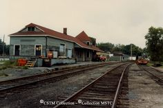"""Date: Caption: """"Two views of the original CAR station at Renfrew, Ontario. It was combined as a freight shed and a station, and was used by GTR and CNR. Ontario, Ottawa Valley, Car Station, Train Stations, Canada, Local History, Architecture, Ancestry, Railroad Tracks"""