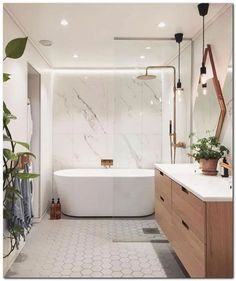 54+ White Bathroom #bathroomideas #bathroomdesignmodern #modernbathroom« Home Design