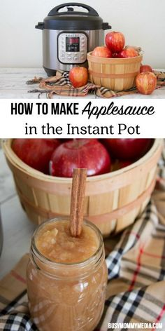 How to Make Applesauce in the Instant Pot   This is such an easy recipe and the perfect fall treat! We'll be making this Instant Pot recipe again!