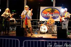 Colin with the Trop Rock Junkies - also with Jayne Kelli and Steve Tolliver.  Photo by Jim Tizzano