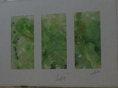 """Hoop-3, aquarel op papier, 2010: Afkomstig uit de serie """"Hoop"""", geschilderd t.g.v. de 24-uurs """"Samenloop Voor Hoop"""", 26-27 juni 2010 te Oosterhout t.b.v. KWF Kankerbestrijding (out)"""