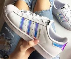 best sneakers e8779 181a9 Super star shouse blue and white Zapatos De Moda, Zapatillas Mujer, Calzado  Mujer,