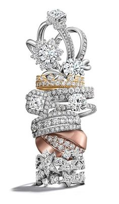 Diamond engagement #ring stack by @Hearts On Fire - which would you choose?