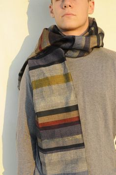 Casual Mens Scarf Foulard Homme Hand Woven mens Scarf by Milltwill