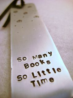 Metal Stamped Personalised Bookmark - So Many B... - Folksy