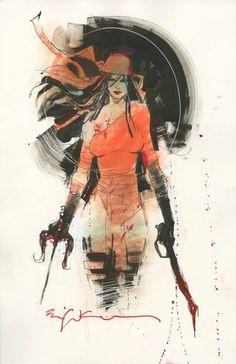 Bill Sienkiewicz. Elektra. The Marvel Comics of the 1980s