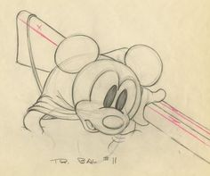 Mickey's Parrot Production Drawing - ID: septmickey3505 | Van Eaton Galleries