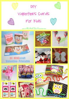 DIY Valentine's Cards for Kids - 27 Easy Ideas - All About the Mommies #valentinesday