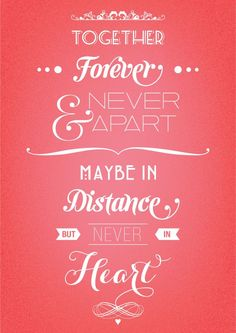 together forever never apart for we will always share one heart printable - Google Search
