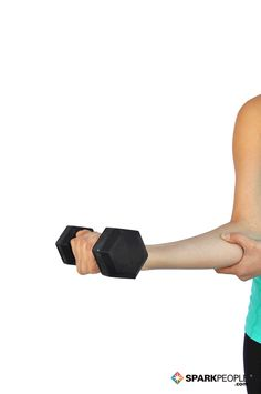 Dumbbell Wrist Curls Exercise Demonstration via @SparkPeople