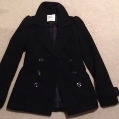 Black Poppy Pea Coat Black poppy peacoat! Used only a couple of times. Great condition. Size XS. Bought from PacSun. Black Poppy Jackets & Coats Pea Coats