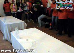 Trafalgar Minute to Win It Team Building Bellville Cape Town Team Building Events, Team Building Activities, Building Ideas, International Games, Minute To Win It, Cape Town