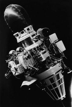 """The USSR'sЛуна-9 (Luna 9)was the first manmade spacecraft to land on the Moon, or any planetary body other than Earth, on February 3rd of 1966. 250 seconds after its landing, its four """"petals"""" opened upand stabilized the lander on the lunar surface. Luna 9's rotating camera then began photographing andfilming the lunar surface. It transmitted a total of 8 hours and 5 minutes of footage back to Earth in 7 radio bursts. Soviet scientists had programmed Luna to send information ..."""