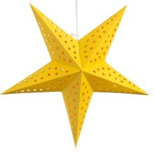 Hometown Evolution Inc Star 24 Wide Single Light Plug-In Paper Lantern - yellow tranquility Paper Star Lights, Paper Stars, Star Cut Out, Yellow Paper, Eco Friendly Paper, Star Lamp, Paper Lanterns, Yellow Accents, Green Backgrounds