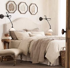neutral bedding.. but with accent colors. not sure what the accent color will be
