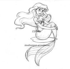 This is in my top 3 of tattoos I would want. Especially since it's an original from a disney designer and artist himself, it makes it that much better :) (not from the original Little Mermaid but from Ariel collections featured in Disney as of 2005)