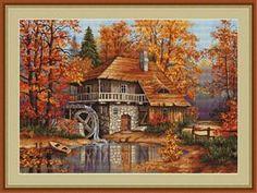 Autumn Landscape: Cross stitch (Luca-S, B481)