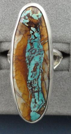 LOVE this! Royston Turquoise ring by LOchsners.