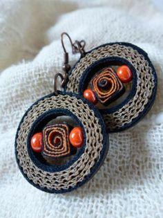 mondo orecchini cartoncino colorato,cartoncino ondulato,perle in vetro filigrana di carta