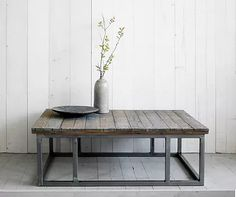 Houten TV-meubels | Salontafels | Eettafels | Stalen onderstel | Duurzaam | Oud hout