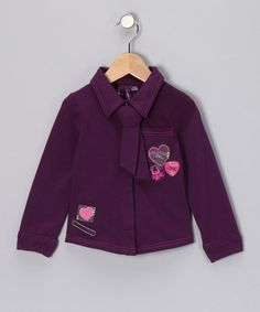 Take a look at this Plum Purple Button-Up - Toddler & Girls by caprice de star & Chapô Pointû on #zulily today!