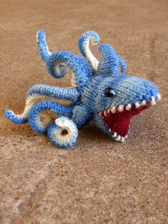 SHARKTOPUS! I Think I have a moral obligation to translate this to crochet