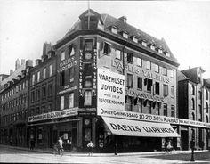 Daells Varehus på hjørnet af Nørregade og Krystalgade, 1922 - VÆGGEN