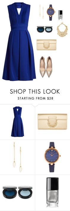 Luxury Blue by natasha-esprecielo on Polyvore featuring Preen, Salvatore Ferragamo, Kate Spade, Isabel Marant, Sole Society and Chanel