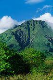 martinique stock photography | Martinique, Le Precheur, View of Mt. Pel�e volcano, image id 8-241-29