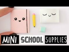 4 DIY REAL MINI SCHOOL SUPPLIES! Cute & Easy! - YouTube