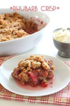 Low Carb Grain-Free Rhubarb Crisp