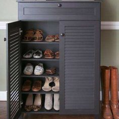 Baxton Studio Warren Shoe Storage Cabinet in Dark Brown ...