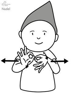 Nudel Kindergebärden Babyzeichen Babyzeichensprache Babygebärden Gebärdensprache GuK