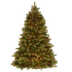 National Tree Company 7.5 ft. White Pine Artificial Christmas Tree with Clear Lights-PEWH13-307-75 at The Home Depot 439