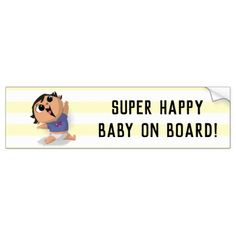 Baby on Board - Airplane Baby (Asian Girl) Bumper Sticker Exterior Car Accessories, Newborn Baby Gifts, Super Happy, Happy Baby, Business Supplies, Baby Accessories, Bumper Stickers, Party Hats, Airplane